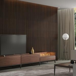 Mueble de TV con chimenea eléctrica